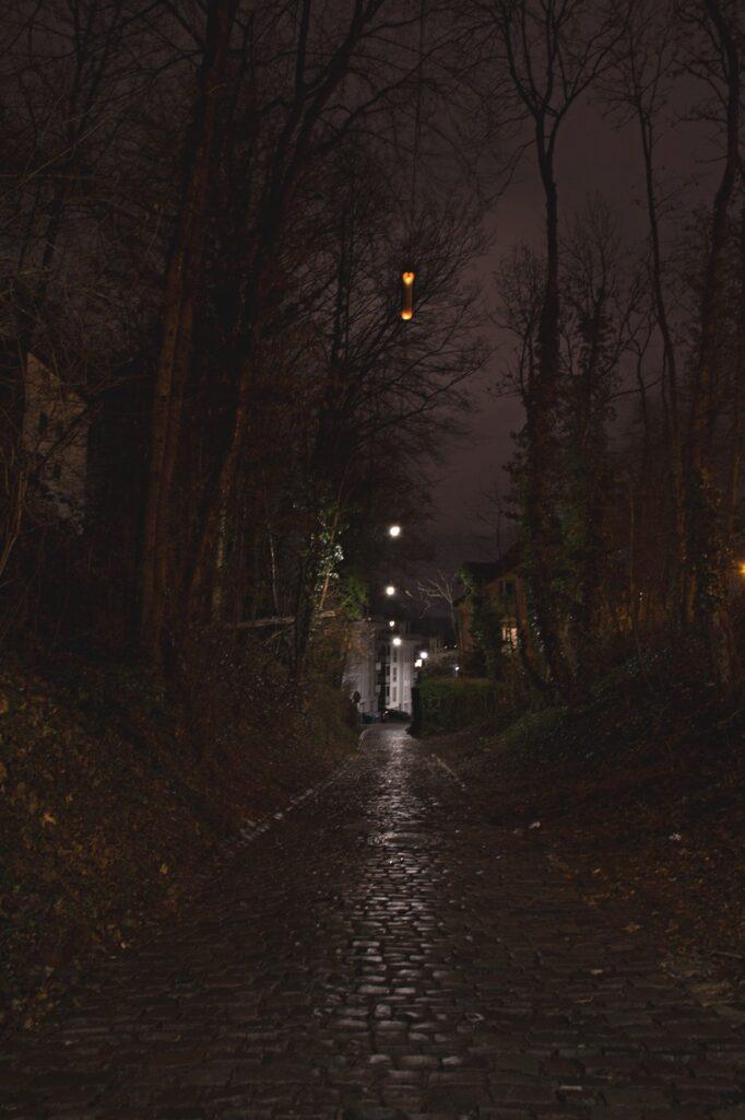 Forbacher Straße im Dunkeln (Christian)